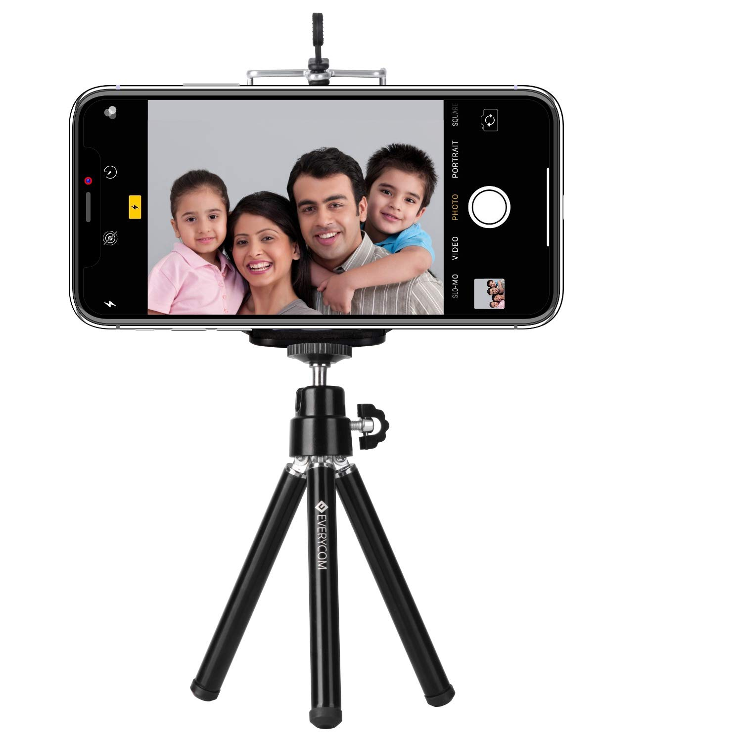 CAOMING Table Portable Tripod Stand for Digital Cameras Durable Max Height: 120mm Black